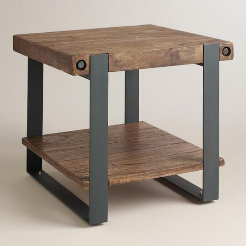 Rustic Skylar End Table Rustic Side Table Rustic Furniture Diy