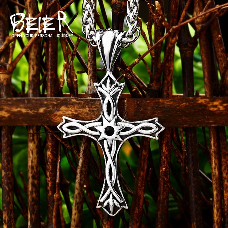 Gothic Style Cross Viking Necklace Pendant For Man And Woman Personality Fashion Jewelry Lbr P030