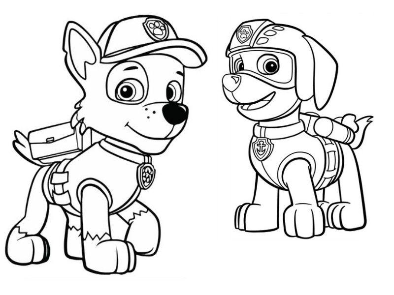 kleurplaat paw patrol paw patrol para colorear