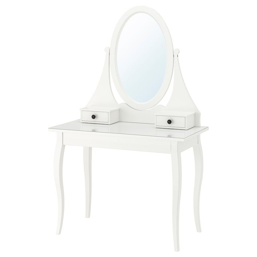 Hemnes Dressing Table With Mirror White 39 3 8x19 5 8 Ikea In 2020 Dressing Table Mirror Hemnes Malm Dressing Table