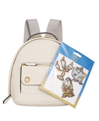 b54f7df0381 Disney By Danielle Nicole Mila Mini Beauty And The Beast Backpack with  Patches - Tan Beige