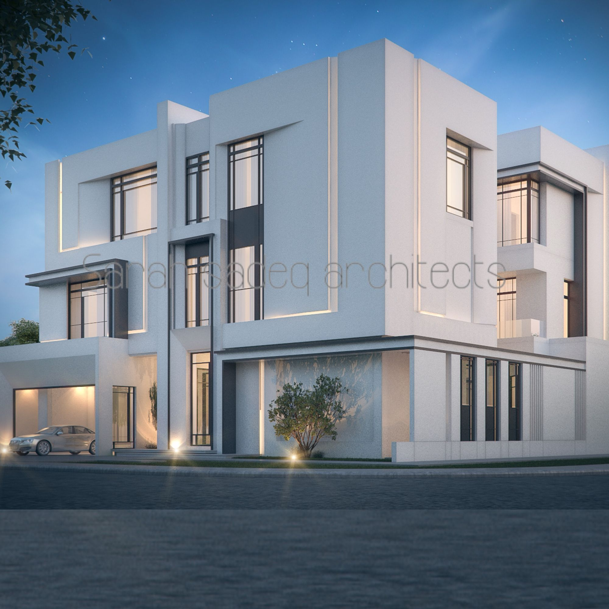 private villa 600 m kuwait sarah sadeq architects sarah sadeq architectes pinterest. Black Bedroom Furniture Sets. Home Design Ideas