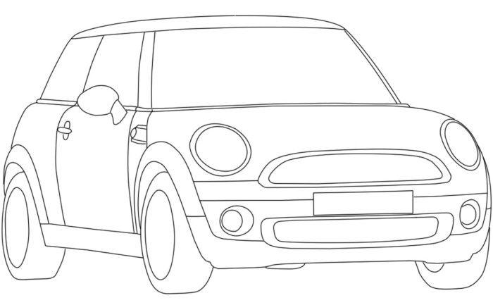 mini corvette coloring page