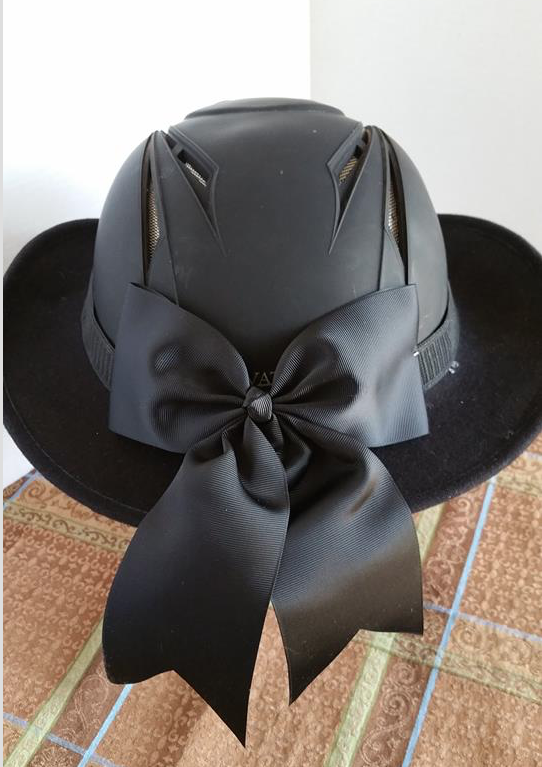 Another Great Idea A Hellhat Combining A Cowboy Hat With A Helmet And It Looks Good The Best Par Horse Helmets Equestrian Helmet Riding Outfit Equestrian