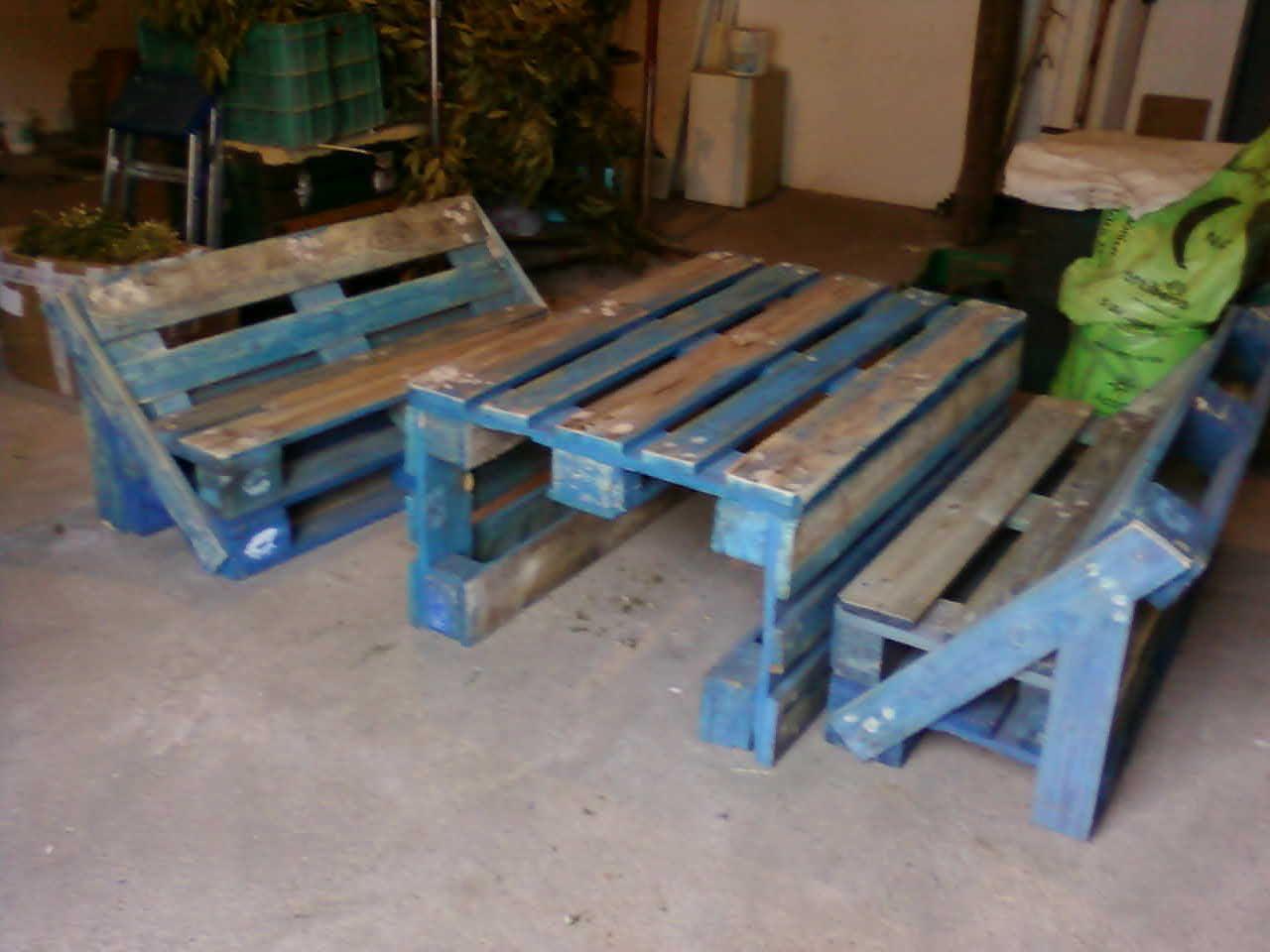 Palets artesania tina vicho muebles de palets para for Muebles de jardin con palets