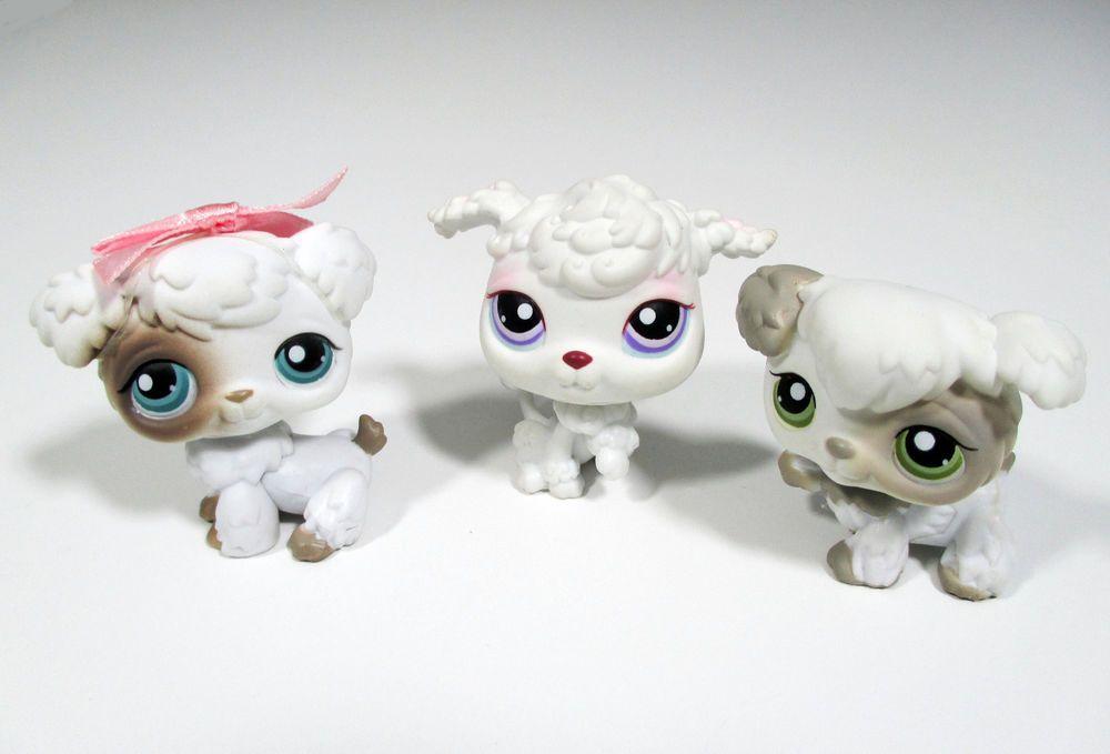 Littlest Pet Shop Poodles 203 204 101 White Grey Gray Lps Puppy