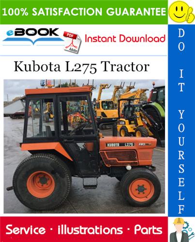 Kubota L275 Tractor Parts Manual Tractors Kubota Tractor Parts