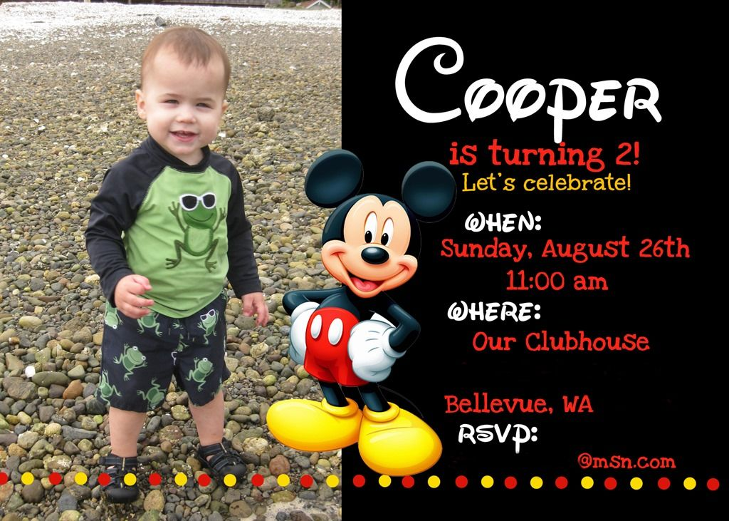 Mickey Mouse Birthday Party Ideas The Colors Were Primary Colors - Mickey mouse birthday party invitation templates