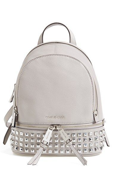 6b7c7ae1278 MICHAEL Michael Kors 'Small Rhea Zip' Studded Backpack available at # Nordstrom