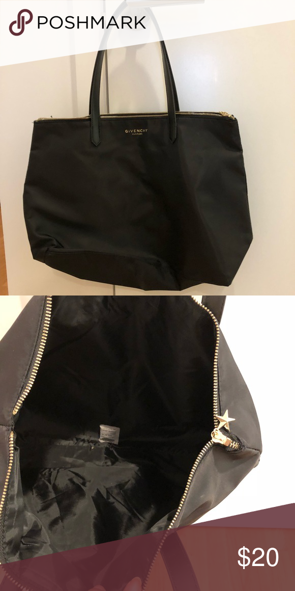 aa42409970e 👜Givenchy Parfums Black weekender tote bag This bag has black nylon and  faux leather straps. Never used, great for overnights or weekend getaways!