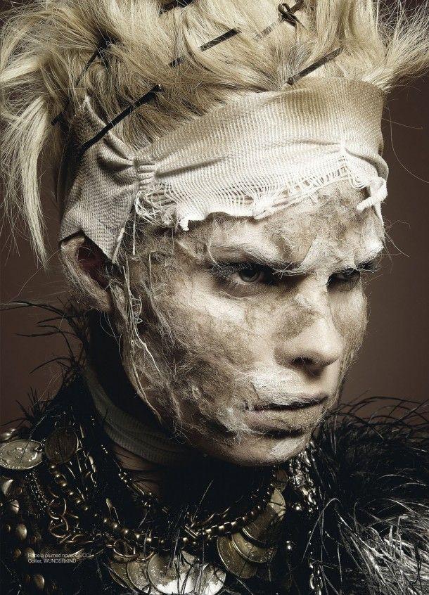 Amazing Anna Gushina in unique gothic art fashion session