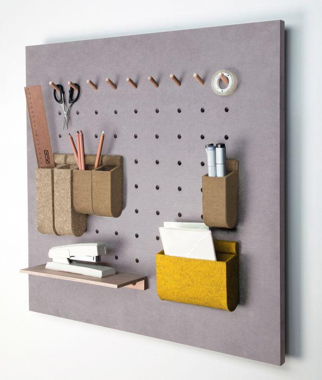 Büromöbel - SET Wandpaneel *mairaum* HELLGRAU + SAND/GRÜN - ein Designerstück von mairaum bei DaWanda