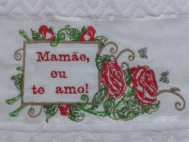 Toalha lavabo - Tema Dia das Mães R$ 25,00