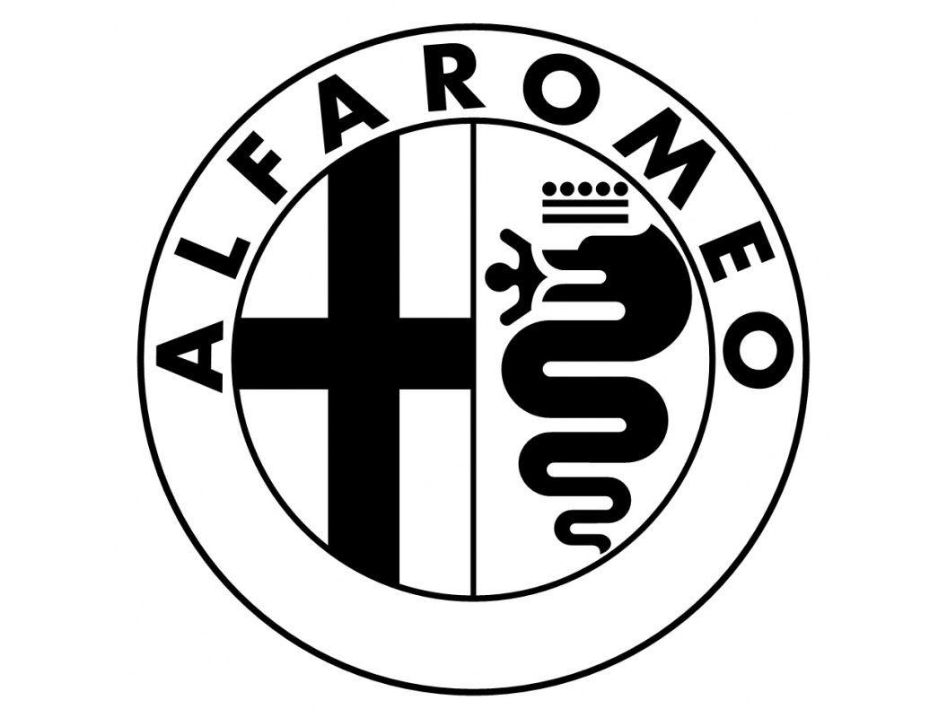alfa romeo logo black and white. alfa romeo logo in balck and white black pinterest