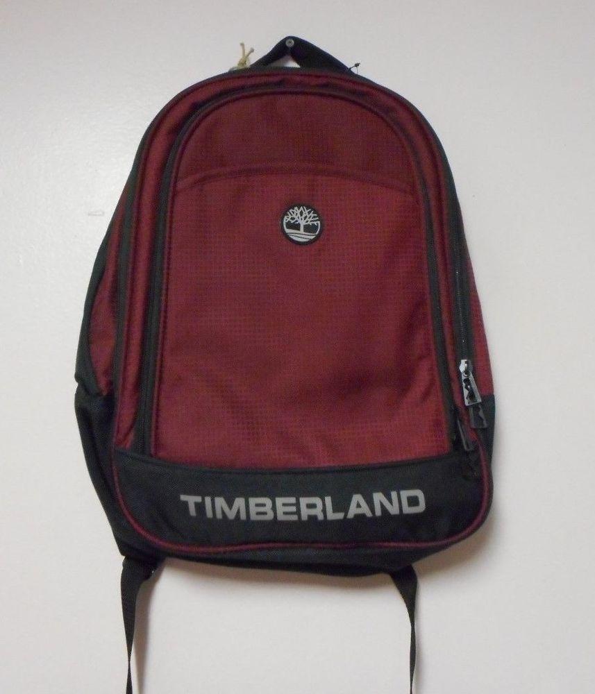 Timberland Loudon Backpack Book Bag Black Wine Unisex Nwt 260 Timberland Backpack