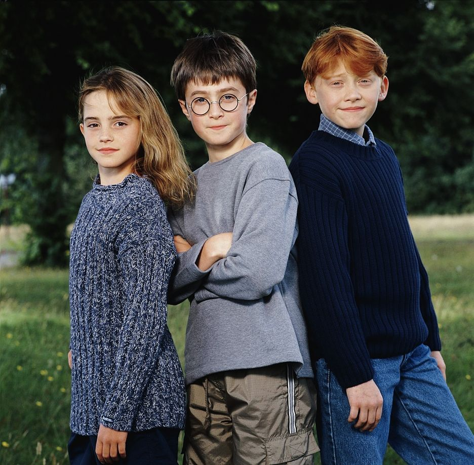 Daniel Radcliffe, Rupert Grint, and Emma Watson in Harry ...
