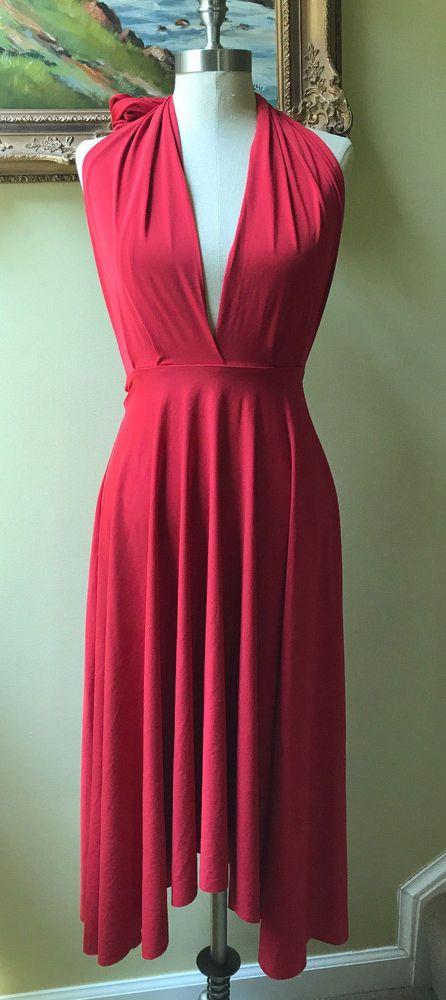 8ade6dc7585c Details about Victoria's Secret Moda International Red Convertible ...