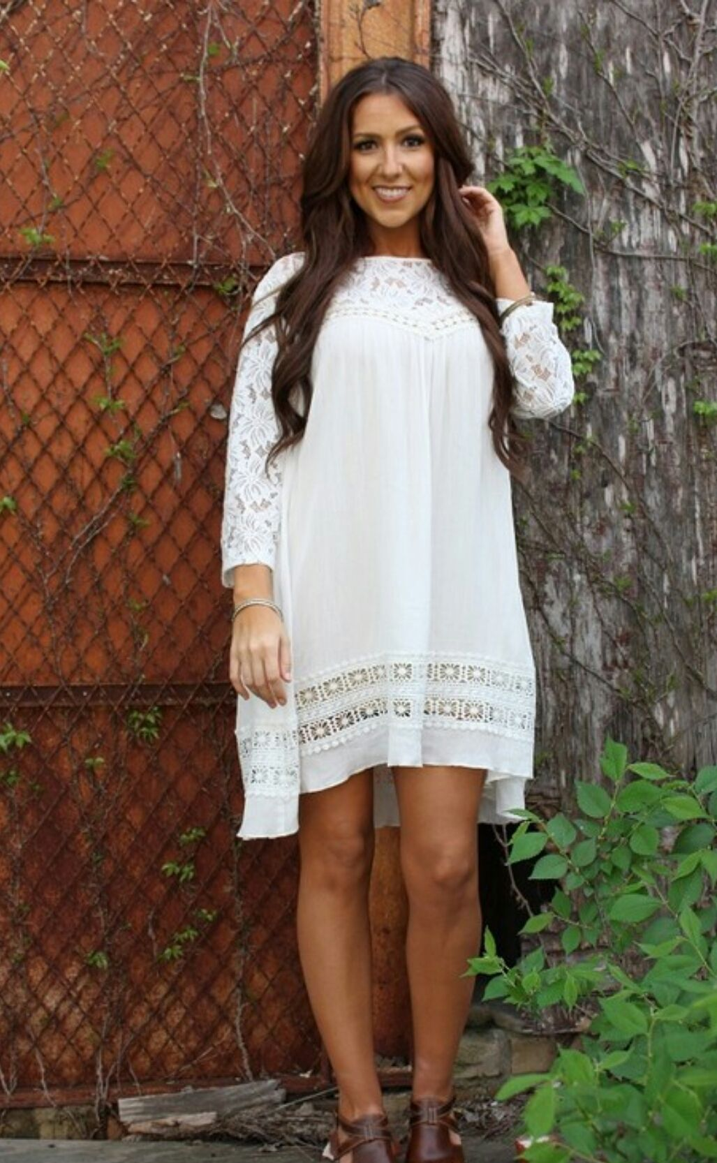 Tuscan Skye White Tunic Dress- Also in Plus Size | SHOP: Trendy Plus ...