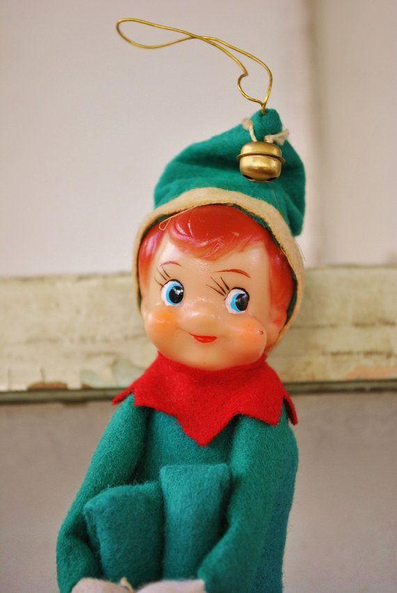 Vintage Elf On The Shelf 1950\u0027s Ornament by ElspethsWhimsy