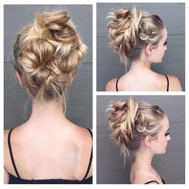 Funky Updo Locks Pinterest Hair Hair Styles And Prom Hair