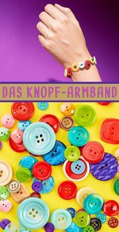Photo of Upcycling: button bracelet Simply jewelry: the bracelet made of buttons! #crafts #b …