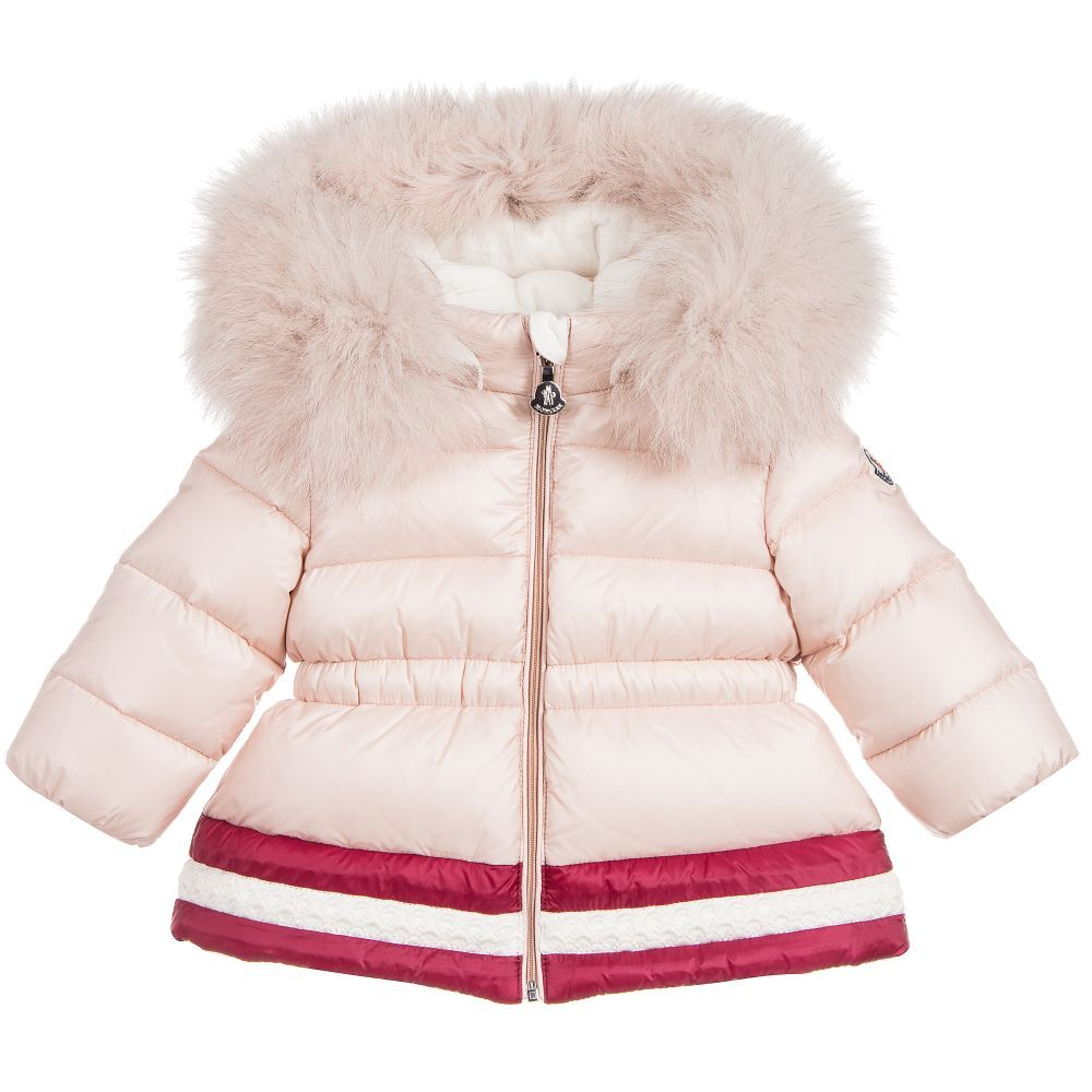 Baby Girls Down Clotilde Coat for Girl by Moncler. Discover more
