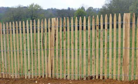 Clôture en ganivelle de bois fendus | recinzioni | Pinterest | Fences