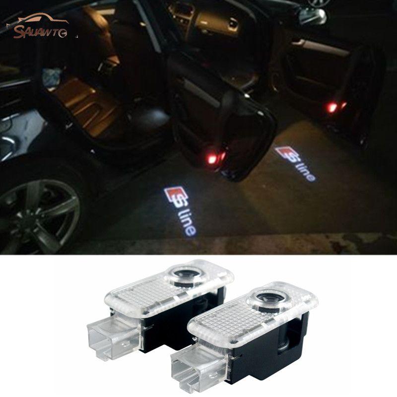 2 Pc Swiatlo Ostrzegawcze Led Drzwi Samochodu Zapraszamy Logo