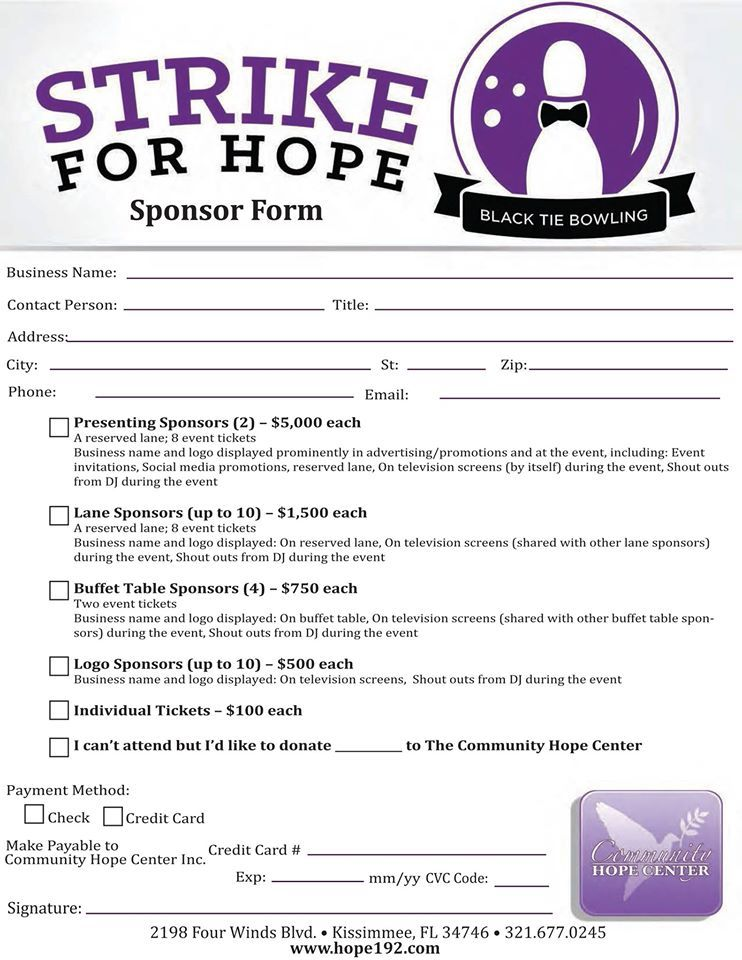 Would you, your business or group like to be a sponsor for our - free sponsor form template