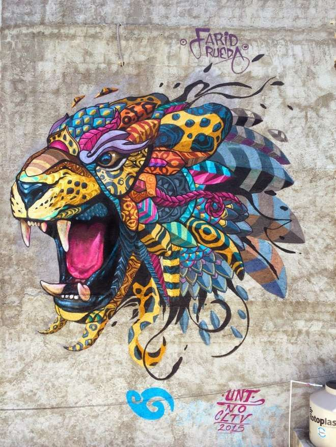 An amazing use of colour and definitions by Farid Rueda a Mexican street-artist.