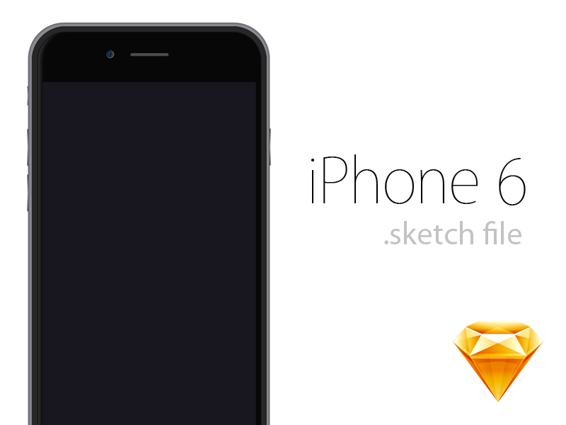 Iphone 6 Sketch Freebie