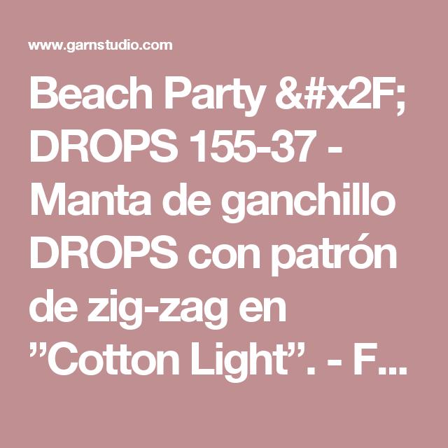 Beach Party / DROPS 155-37 - Manta de ganchillo DROPS con patrón de ...