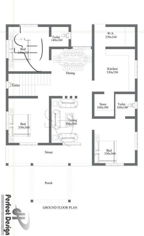 kerala single floor house plans with photos, small 3
