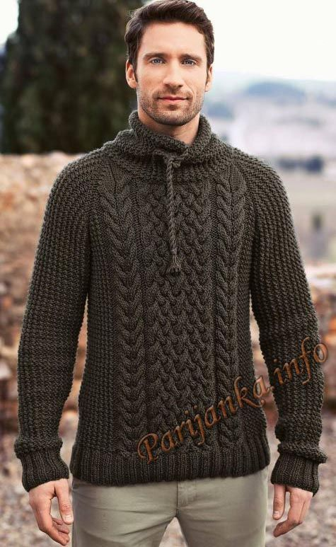 Вязание: Для мужчин | Мужские свитеры, Мужской свитер и ...