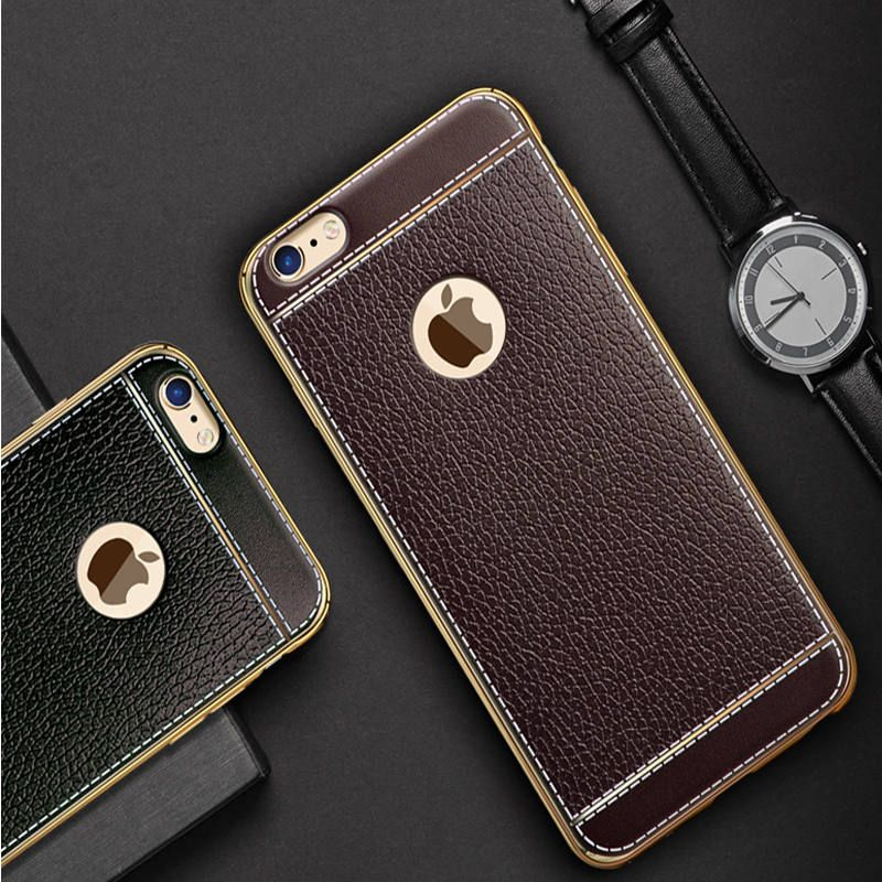 Luxury Tpu soft leather feel desidn Case cover For iPhone 7   7 Plus phone  skin Coque Fundas for iPhone 6 6s plus cases shell   clothing 1b4f7c38e5