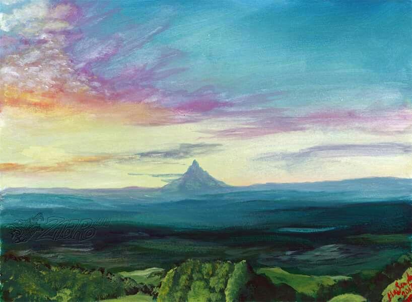 The Lonely Mountain Tolkien Mountain Wallpaper Mountain Art