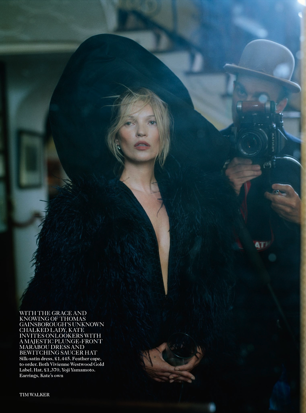 #KateMoss by #TimWalker for #VogueUK December 2013