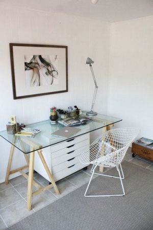 Diy Sawhorse Filing Cabinet Desks For Small Spaces Home Office Furniture Desk For Two