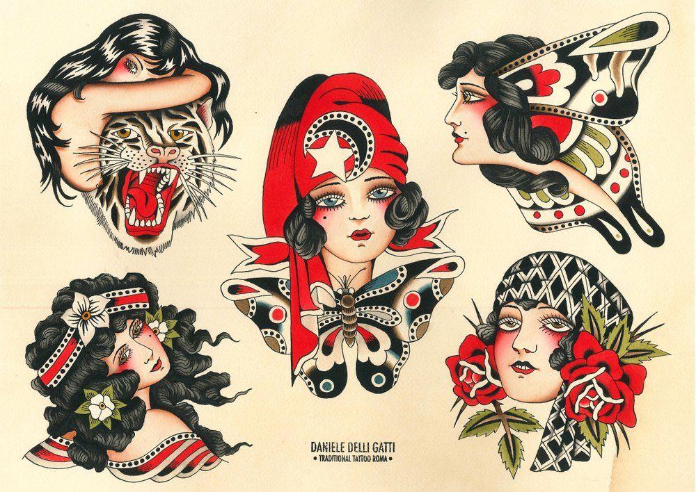 Daniele Delli Gatti Vintage Tattoo Design Old School Tattoo Designs Traditional Tattoo Art