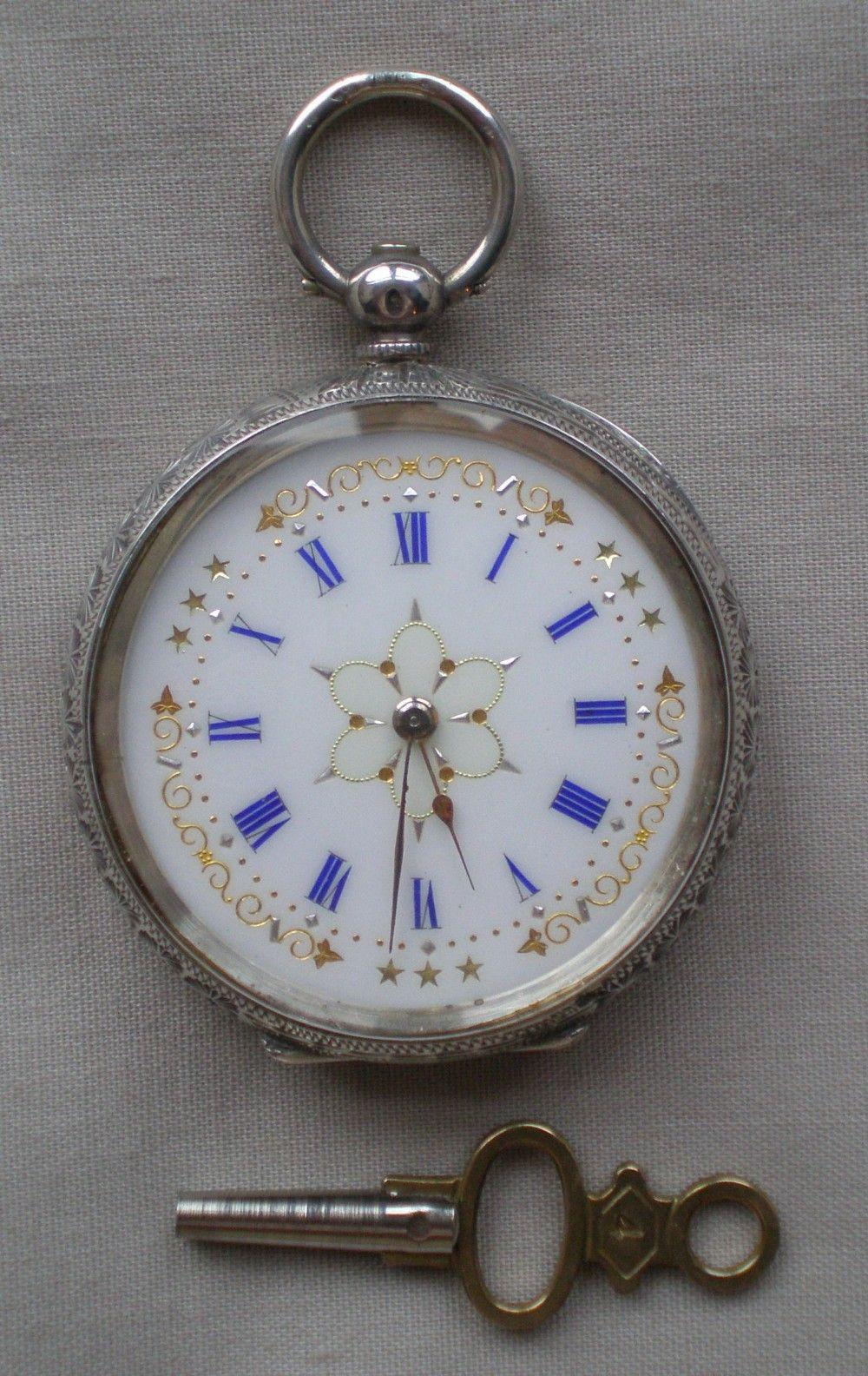 39eaf5f33437 Victorian Silver Fob Watch