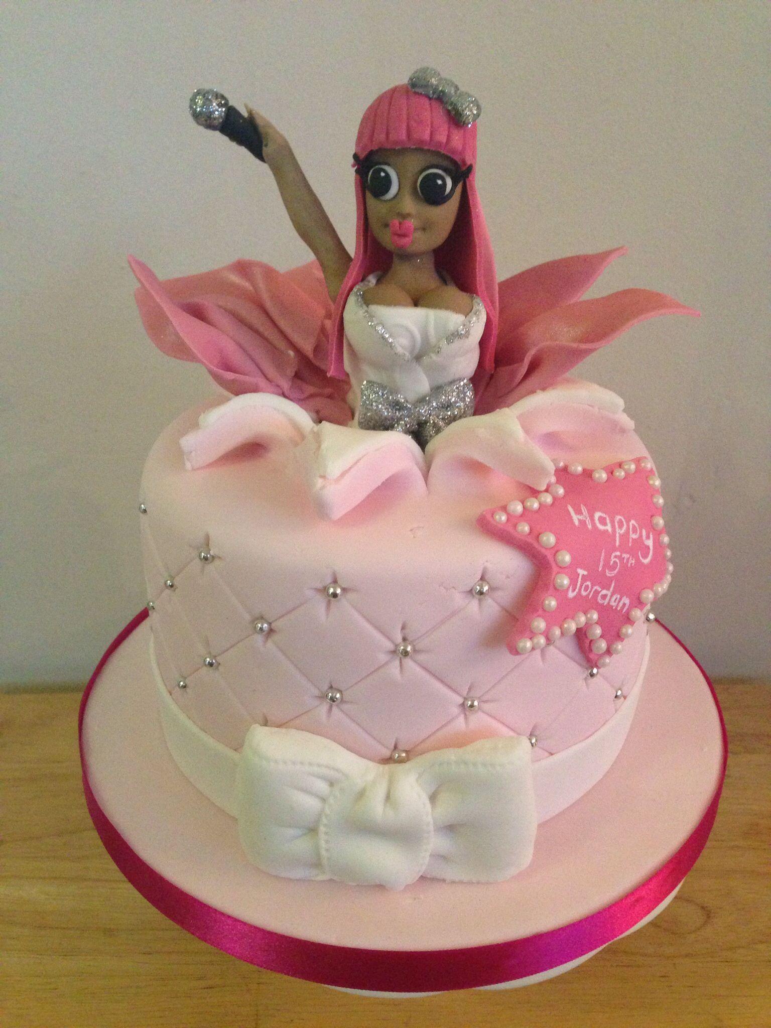 Enjoyable Nicki Minaj Cake Character Cakes Cake Girl Cake Personalised Birthday Cards Paralily Jamesorg