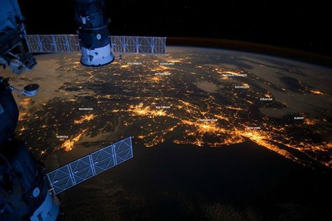 East Coast Light Pollution ... goes as far west as Pittsburgh