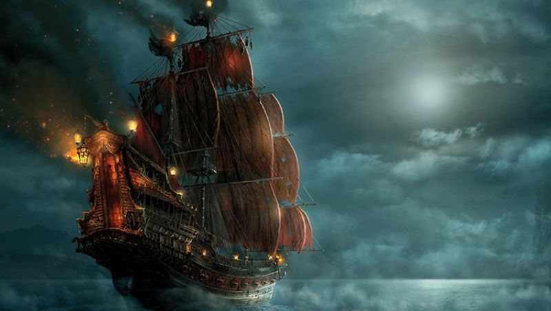 Pirates Of The Caribbean On Stranger Tides Queen Anne S Revenge Walt Disney Storybooks World Wide A Ship Wallpaper Ship Paintings Pirate Ship Wallpaper Black pearl ship wallpaper hd
