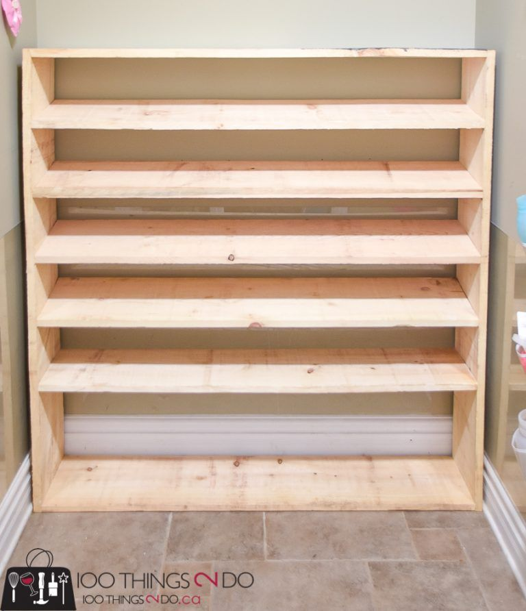 how to make a super sized shoe rack on a budget diy shoe on wood shoe rack diy simple id=52359