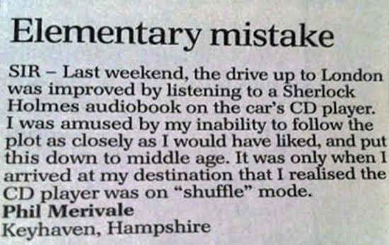 The hapless author of this letter to the editor. | 32 People You'll Be Amazed Actually Exist
