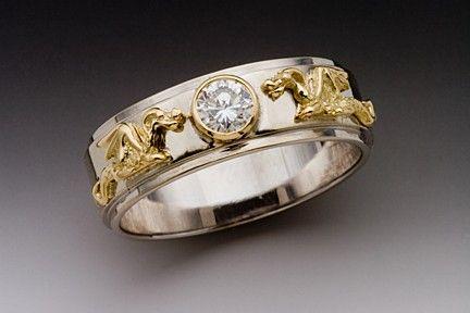 Dragon Ring Gold Wedding Ring Diamond Ring Eternity Dragon Band with