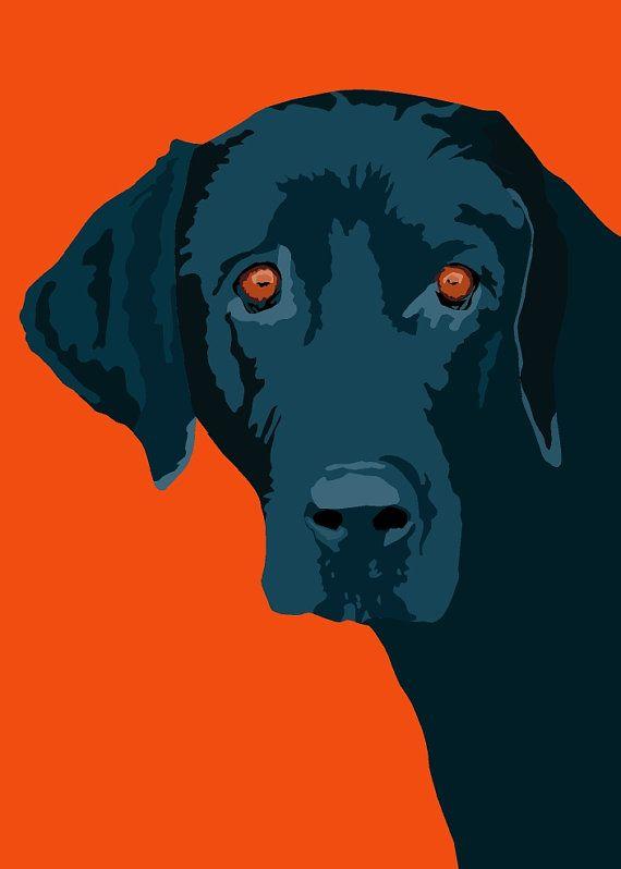 Labrador Azul Arte Del Perro Pintura Perro Pinturas De Animales