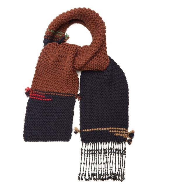 knitted scarf - Brown Prada PxKUE