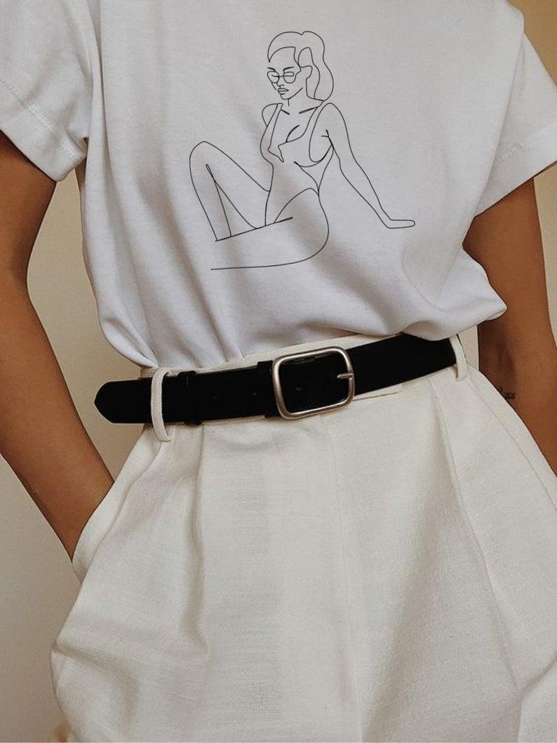 Woman Line Body Vector Svg Female Minimalist Digital Woman Outline Printable Wall Art Abstract Art Female T Shirt Print One Line Art Aesthetic Clothes Fashion Minimalist Fashion