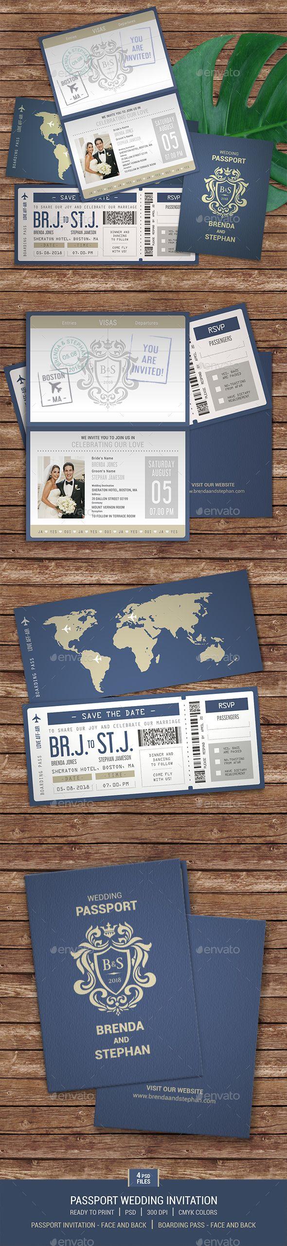 Passport Wedding Invitation Passport Wedding Invitations Weddings